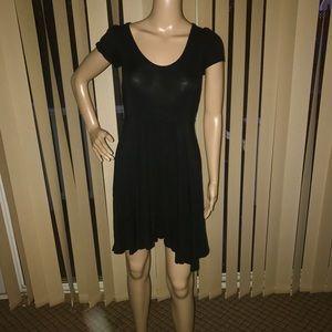 Dresses & Skirts - Women's Mini Black Asymmetrical Dress- Size Small